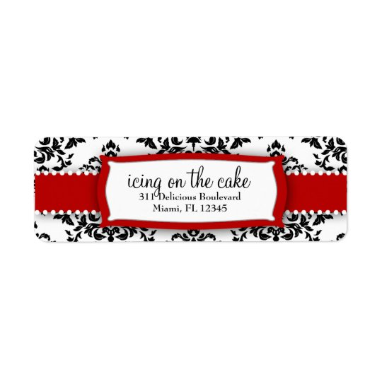 311 Icing on the Cake Red Address Label