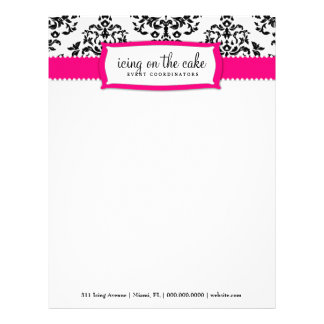 311 Icing on the Cake Strawberry Letterhead Design
