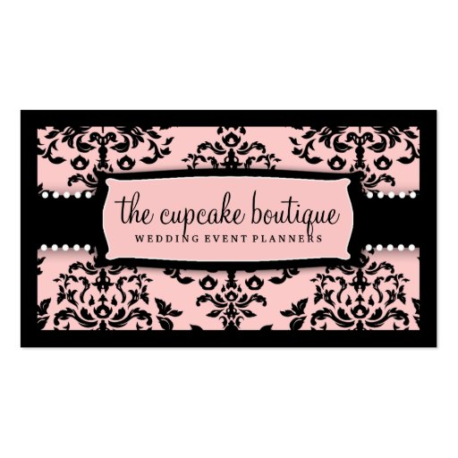 311 Icing on the Cake Sweet Icing Pink Business Card Template