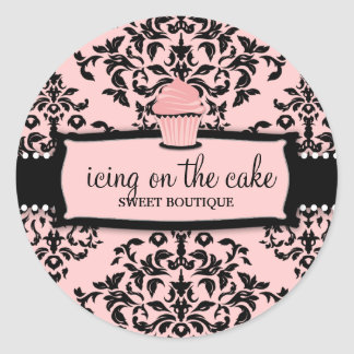 311 Icing on the Cake Sweet Icing Pink Cupcake Classic Round Sticker