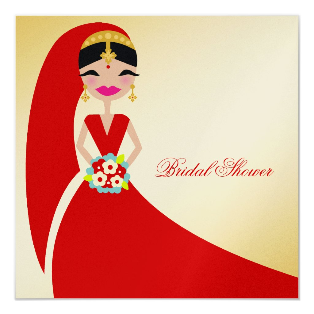 311-Indian Beauty | Bridal Shower Card