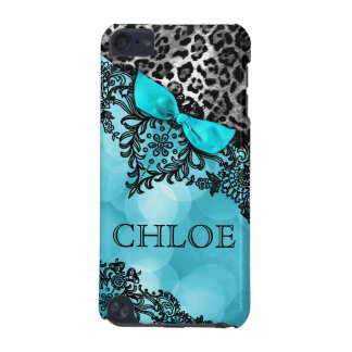 311 iPod Touch Dream in Lights Leopard & Lace Aqua iPod Touch (5th Generation) Covers