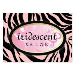 311-Iridescent Zebra Candy Pink on Pink Appt Card Large Business Card