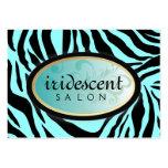 311-Iridescent Zebra Turquiose Appt Card Large Business Card
