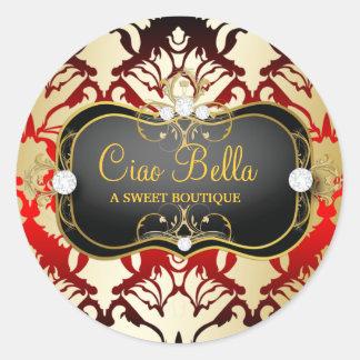 311 Jet Black Ciao Bella Cherry Sass Classic Round Sticker