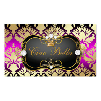 311 Jet Black Ciao Bella Pink Sass Double-Sided Standard Business Cards (Pack Of 100)