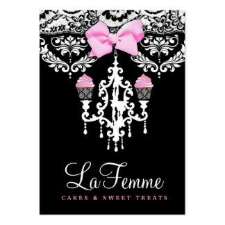 311 La Femme Cakes Black Large Business Cards (Pack Of 100)