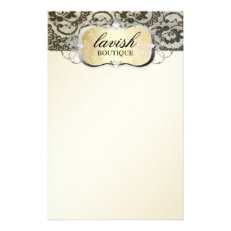 311 Lace De Luxe Gold Lace Stationery