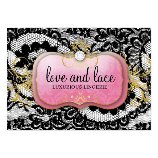 311 Lace de Luxe Lavish Pink Plate Business Card