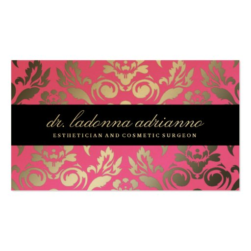 311 Ladonna Damask Pink Business Card