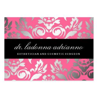 311 Ladonna Damask Rose Pink Large Business Cards (Pack Of 100)
