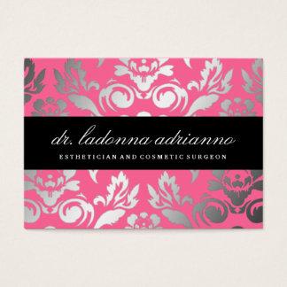 311 Ladonna Damask Rose Pink Business Card