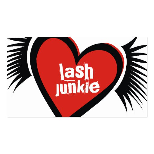 311-Lash Junkie Red Business Cards