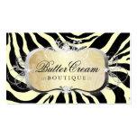 311 Lavish Buttercream Platter Zebra Pack Of Standard Business Cards