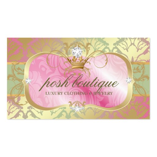 311 Lavish Pink Platter Shimmer Tiara Business Cards
