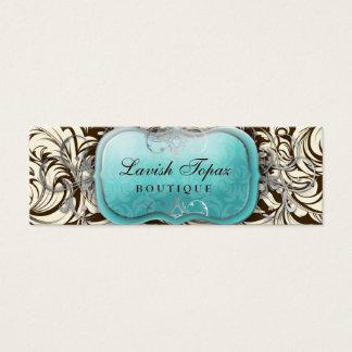 311 Lavish Topaz | Brown & Cream Mini Business Card