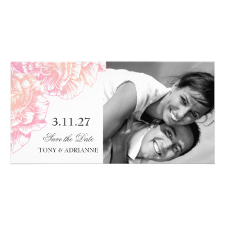 311-Le Plush Fleur - Black et White Save the Date Card