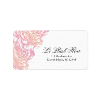 311-Le Plush Fleur - Creamy Pink Label