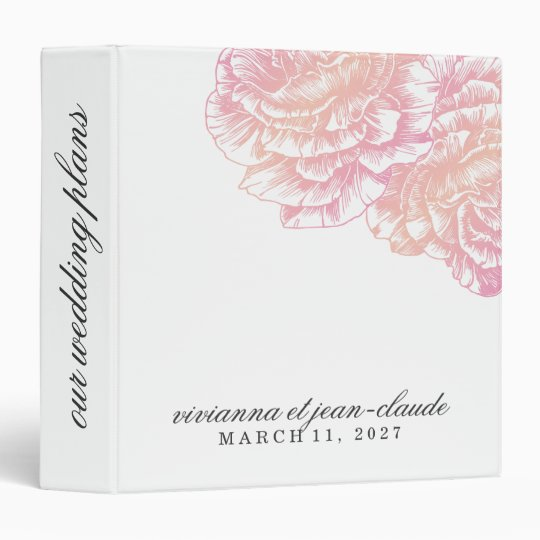 311-Le Plush Fleur - Creamy Pink Vinyl Binders