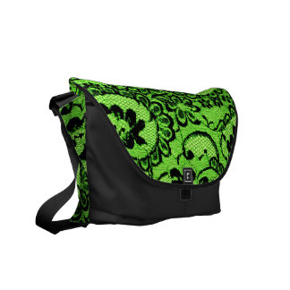 311 Lime Lace (Faux Lace) Commuter Bag