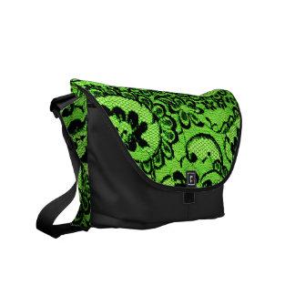311 Lime Lace Faux Lace Commuter Bag