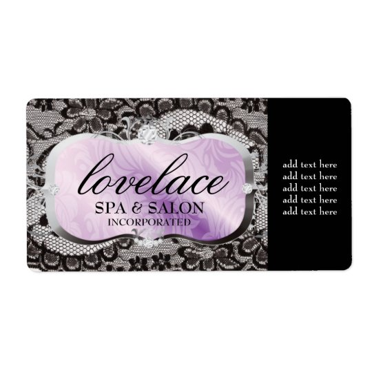 311 Love Lace Lavender Platter Shipping Label