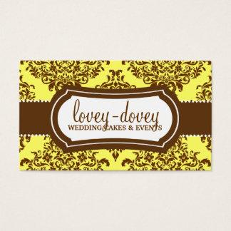 311 Lovey Dovey Damask Tropical Banana Business Card