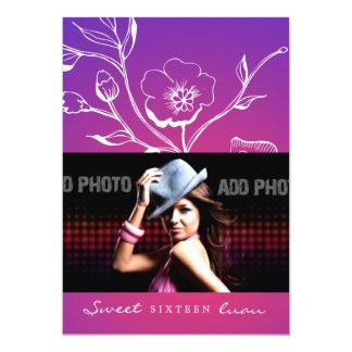 311-Lush Purple Radiance Sweet Sixteen Card
