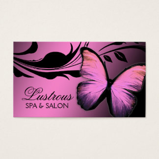 311 Lustrous Butterfly Pink Pout Business Card