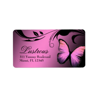311 Lustrous Butterfly Pink Pout Label