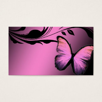 311 Lustrous Butterfly Pink Pout Name Card