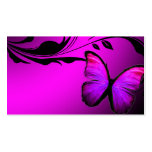 311 Lustrous Butterfly Pink & Purple Name Card Pack Of Standard Business Cards
