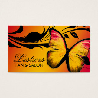 311 Lustrous Butterfly Sunset Business Card