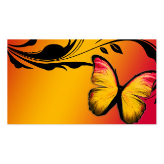 311 Lustrous Butterfly Sunset Name Card