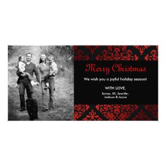 311-Luxuriously Red Liquorice Damask Card