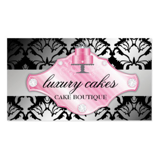 311 Luxury Cakes Damask Shimmer Pack Of Standard Business Cards