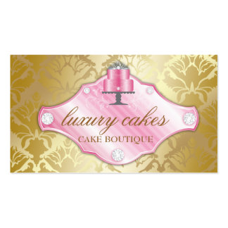 311 Luxury Cakes Golden Damask Shimmer Double-Sided Standard Business Cards (Pack Of 100)