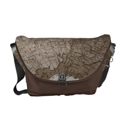 311 Map Brown Europe Asia ... Courier Bags
