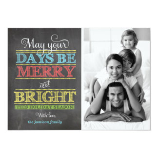 311 Merry and Bright Chalkboard Holiday Photo Card