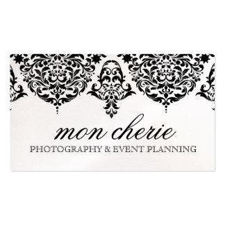 311 Mon Cherie Damask Black Business Card