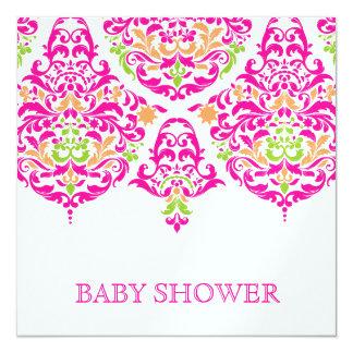 311 Mon Cherie Damask Vibrant Garden Baby SHower Card
