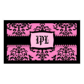 311-Monogram Icing on the Cake - 2 Pink Liquorice Business Card
