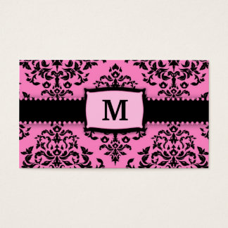311 Monogram Icing on the Cake 2 Pink Liquorice Business Card
