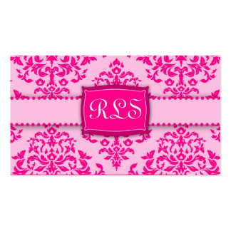 311-Monogram Icing on the Cake - Pink Business Card