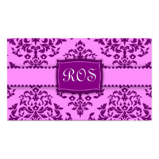 311-Monogram Icing on the Cake - Purple Business Card