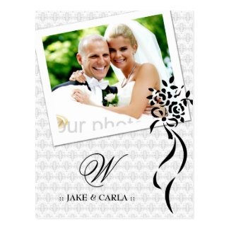 311-MONOGRAM WEDDING ANNOUNCEMENT POSTCARD