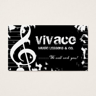 311-MUSICAL MAESTRO - GRUNGE BUSINESS CARD