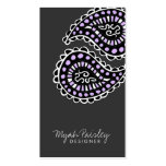 311-Myah Paisley Lavender Grey Business Card Template
