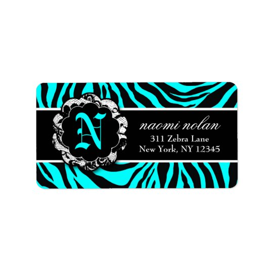 311 Naomi Zebra Print Platter Labels