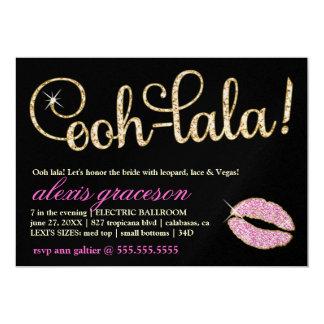 "311 Ooh Lala Glitzy Kiss Sparkle Metallic 5"" X 7"" Invitation Card"